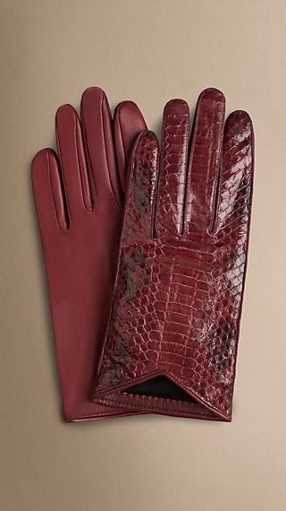 Silk-Lined Snakeskin Gloves