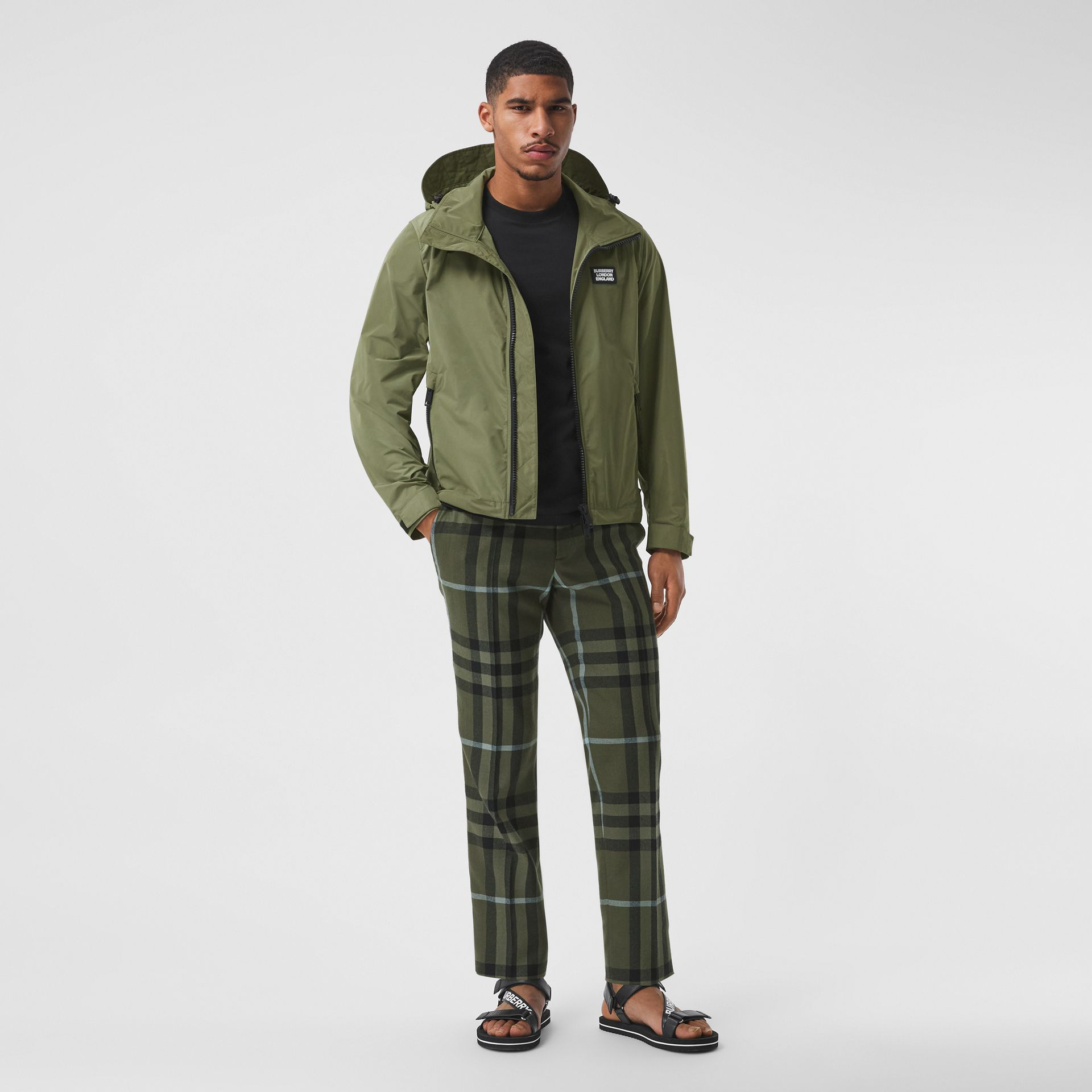 Packaway Hood Shape-memory Taffeta Jacket in Olive - Men | Burberry - gallery image 0