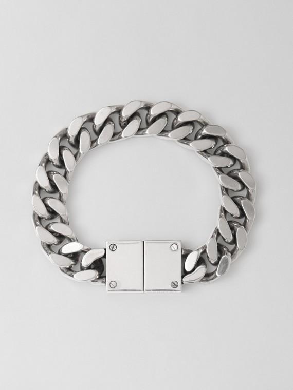 Palladium-plated Chain-link Bracelet