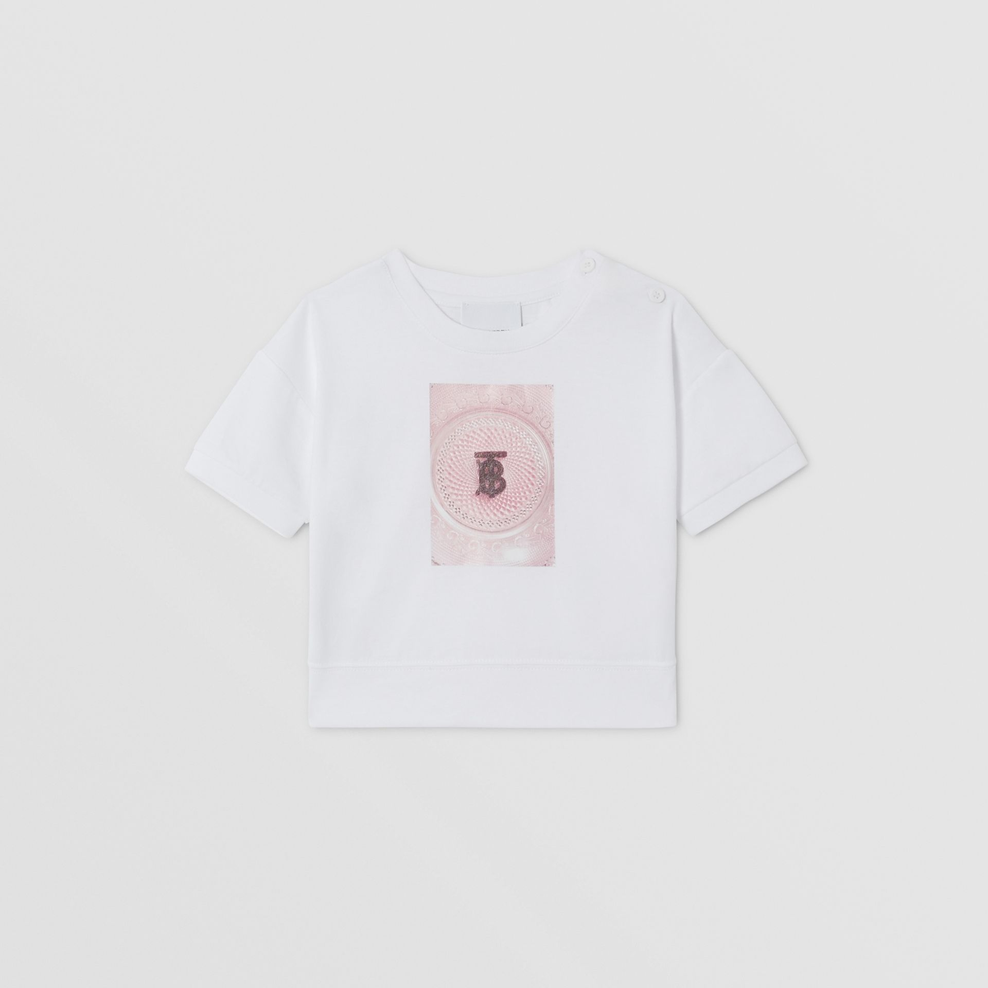 Confectionery Print Cotton T-shirt in White - Children | Burberry - gallery image 0