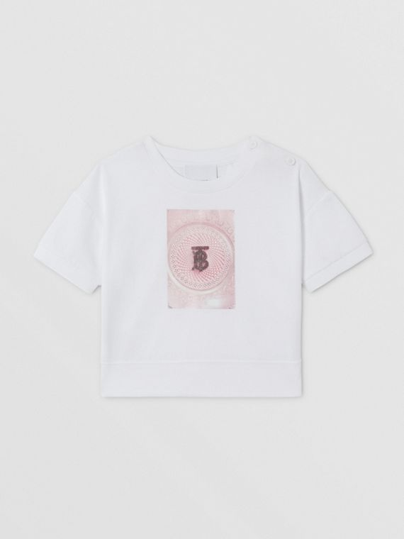 Confectionery Print Cotton T-shirt in White