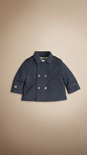 Cotton Jersey Pea Coat