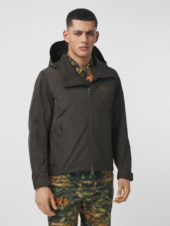 Packaway Hood Bio-based Polyester Jacket in Khaki