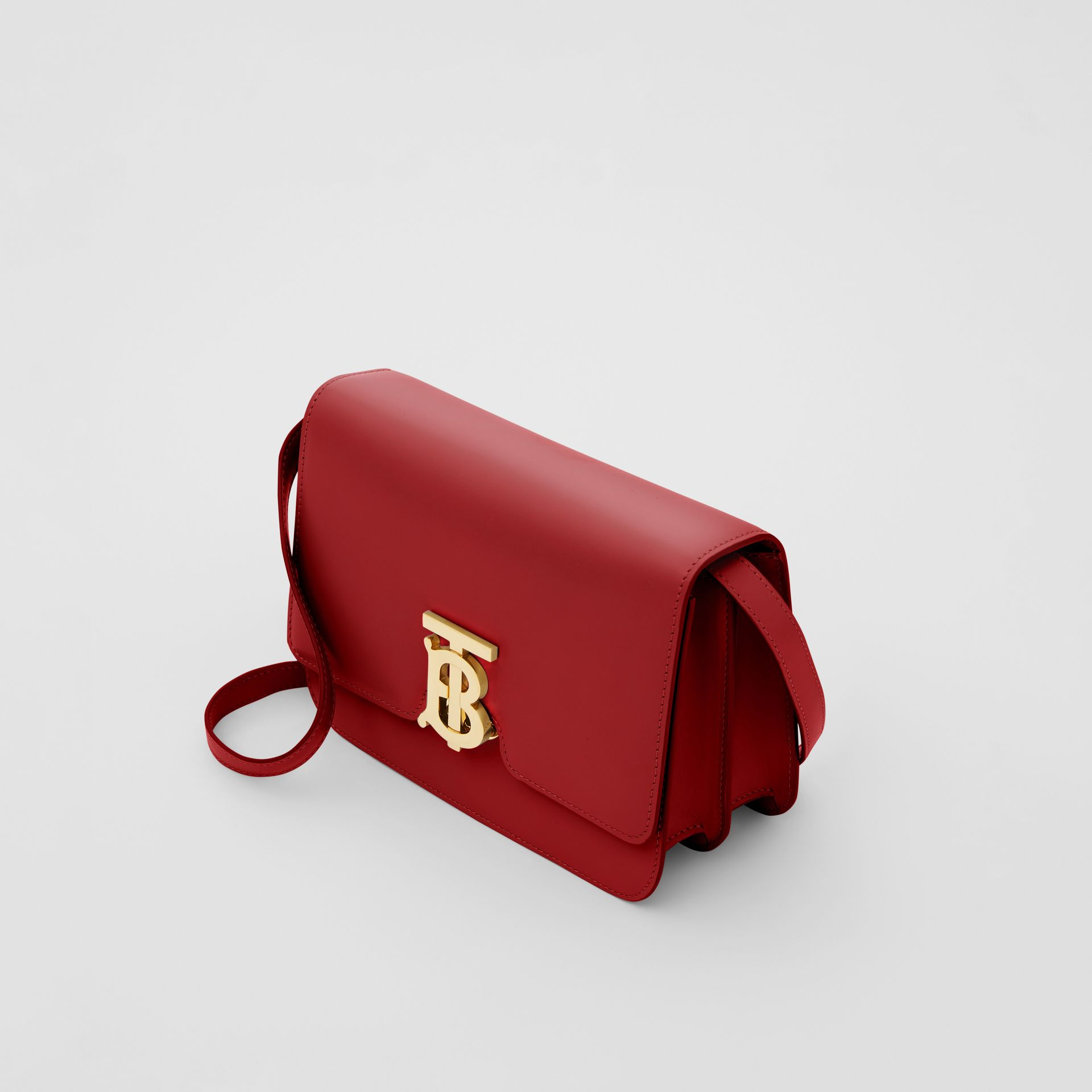Small Leather TB Bag in Dark Carmine - Women | Burberry Australia - gallery image 2