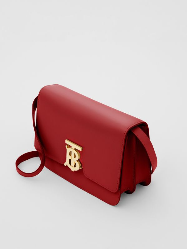 Small Leather TB Bag in Dark Carmine - Women | Burberry - cell image 2