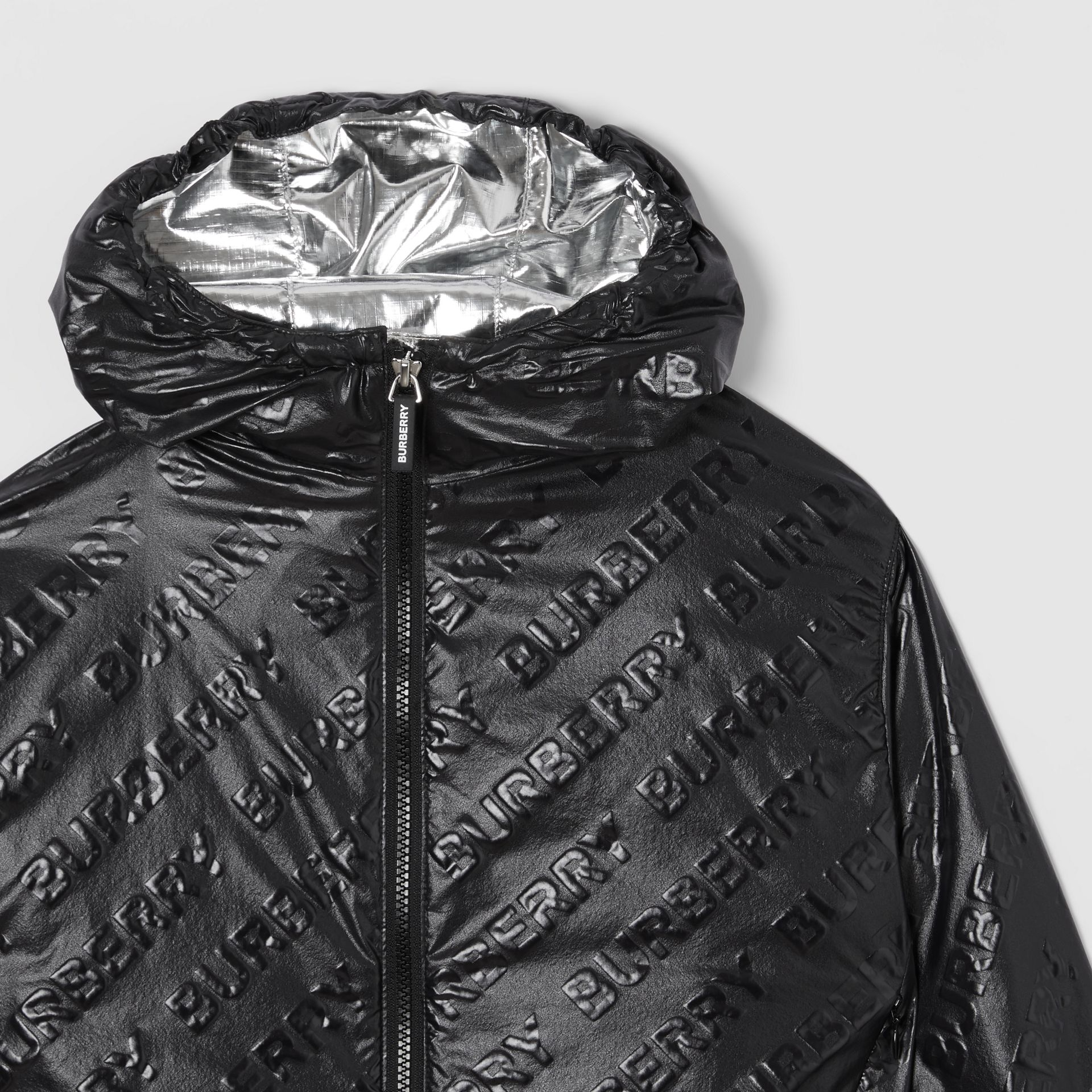 Logo Print Lightweight Hooded Jacket in Black | Burberry Hong Kong S.A.R - gallery image 5