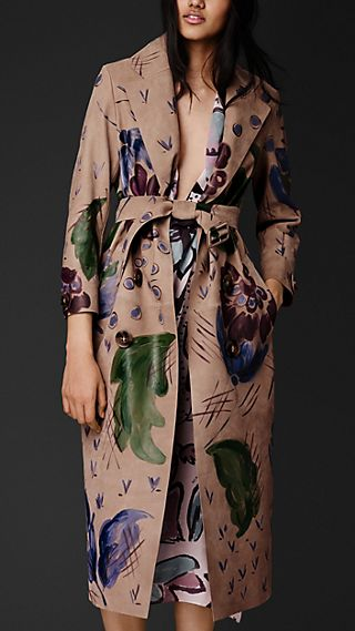 Hand-painted Nubuck Trench Coat