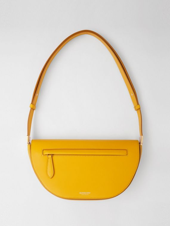 Small Leather Olympia Bag in Marigold