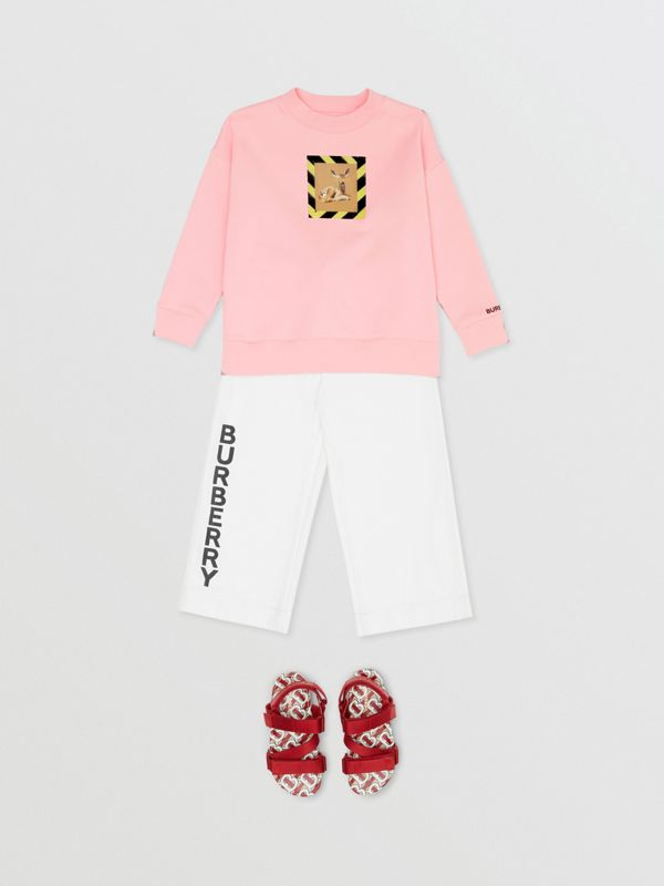 Deer Print Cotton Sweatshirt in Candy Pink | Burberry - cell image 3