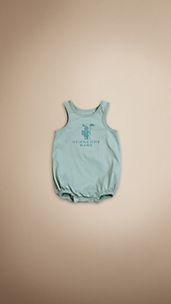 Burberry Baby Knight Cotton Bodysuit