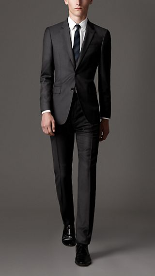 Classic Fit Virgin Wool Prince of Wales Check Suit