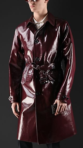 Laminated Cotton Trench Coat