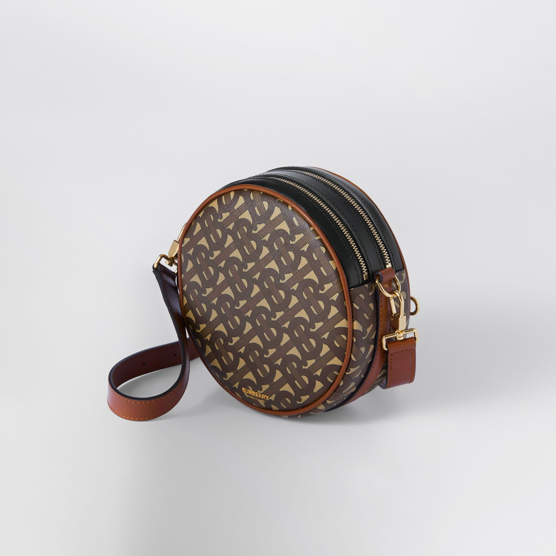Monogram Print E-canvas Louise Bag in Bridle Brown - Women | Burberry United Kingdom - gallery image 2