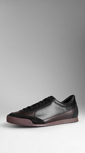 Leather Heritage Graphic Trainers