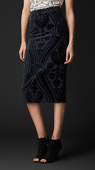 Tapestry Jacquard Pencil Skirt