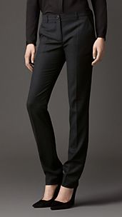 Tailored Virgin Wool Trousers