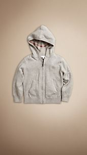 Cashmere Cotton Hooded Top