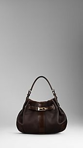London Grainy Leather Hobo Bag