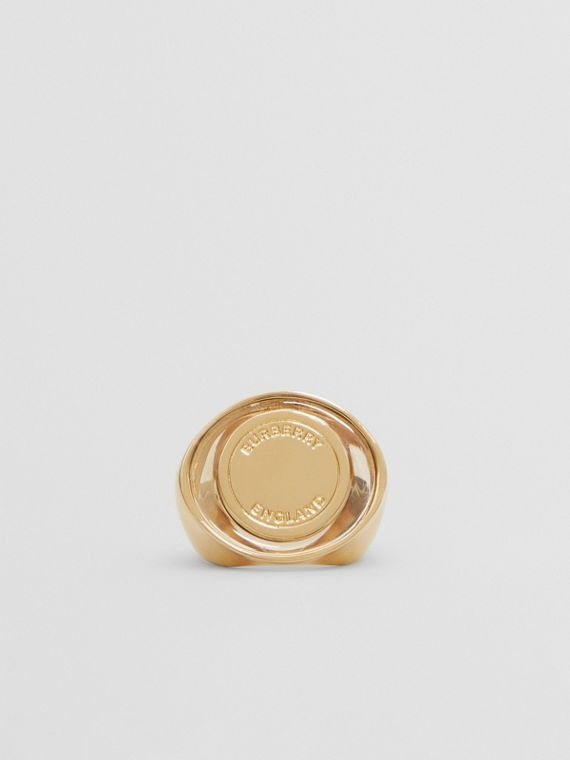 Resin and Gold-plated Signet Ring in Light