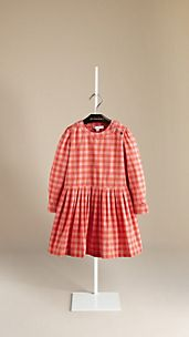 Cotton Gingham Dress
