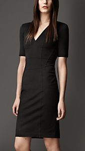 Corset-Jersey V-Neck Dress