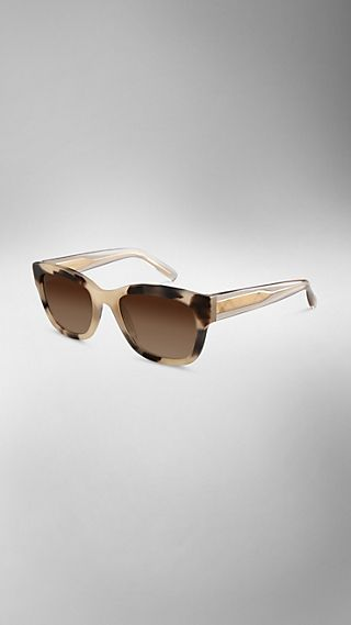 Horn-Look Square Frame Sunglasses