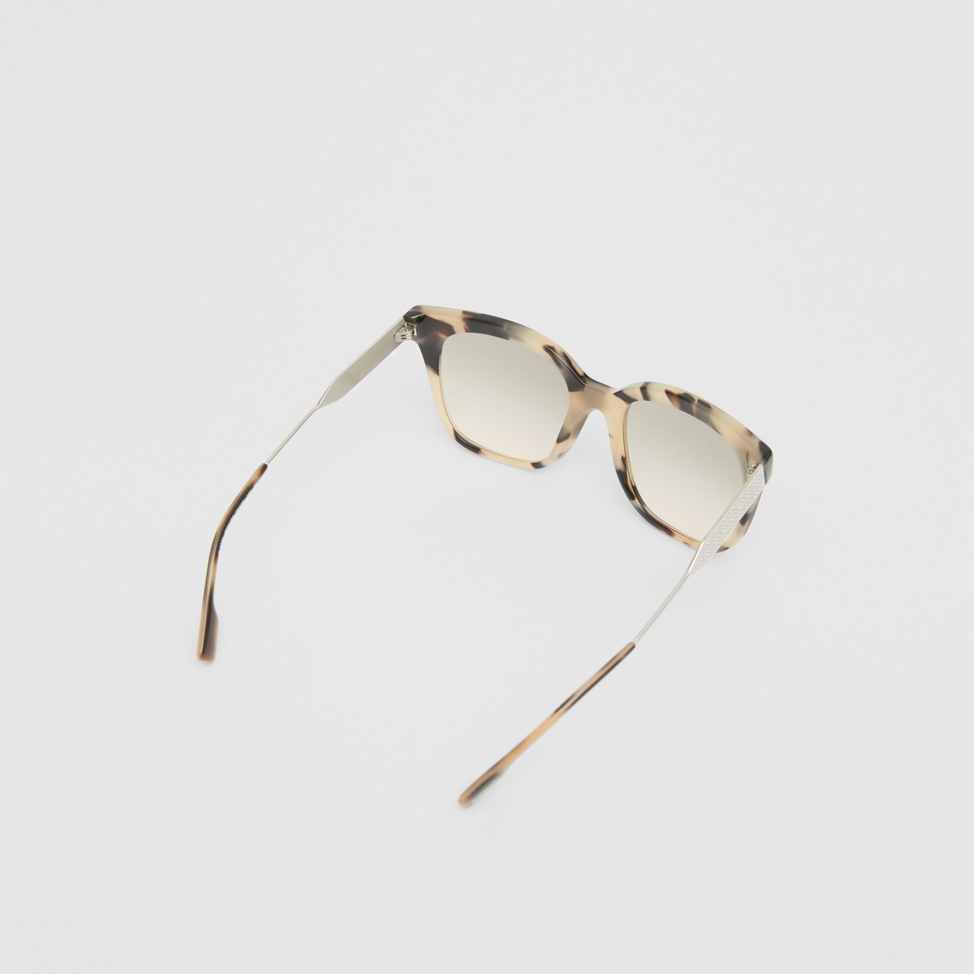 Butterfly Frame Sunglasses in Honey Tortoiseshell - Women | Burberry - gallery image 4