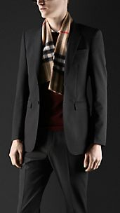 Wool Blend Skinny Fit Jacket