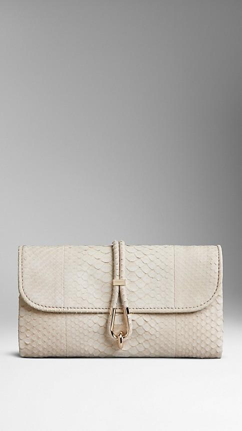 Nubuck Python Clutch Bag Burberry