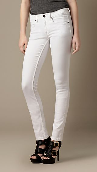Earlham White Straight Fit Jeans