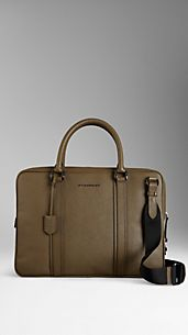 London Leather Crossbody Briefcase