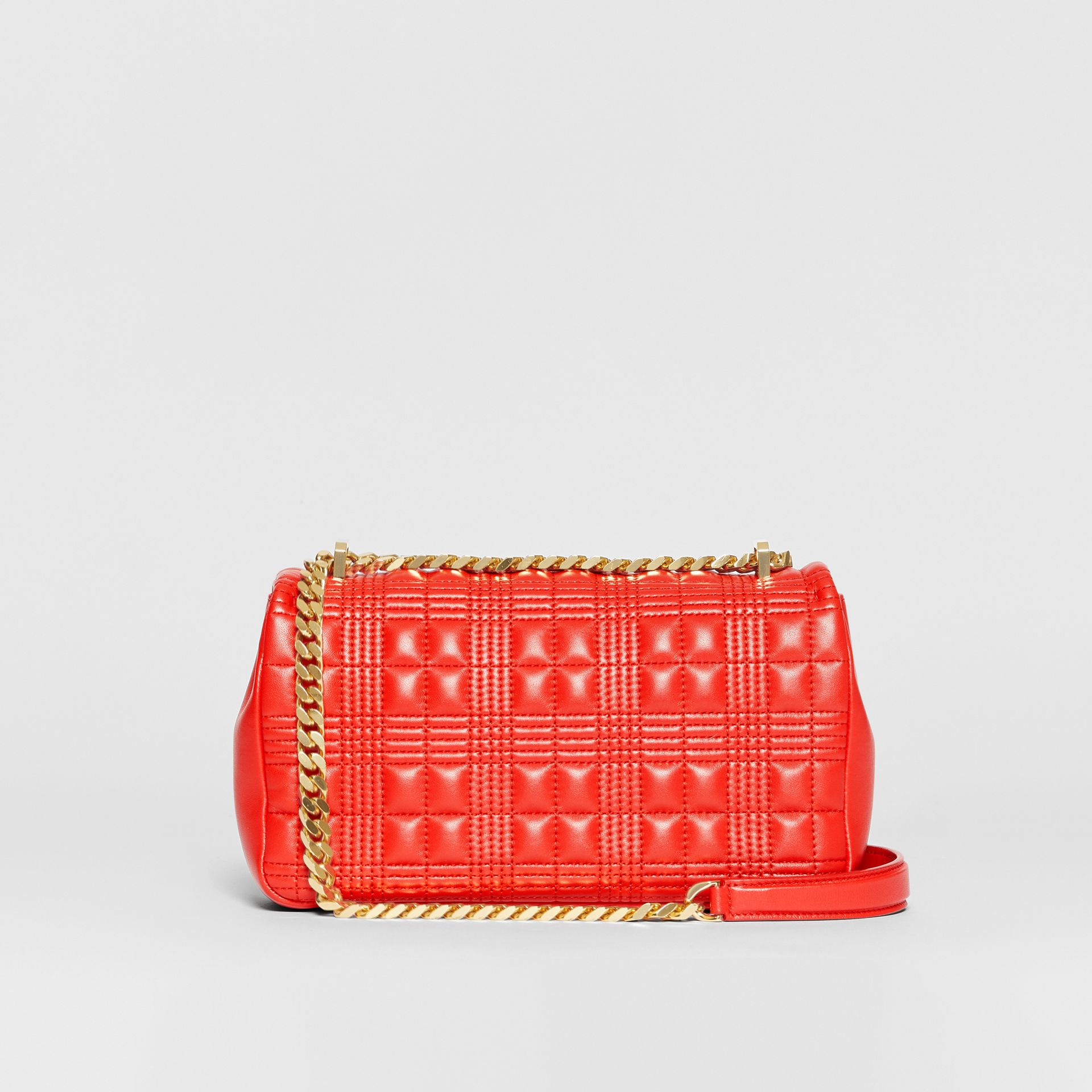 Small Quilted Lambskin Lola Bag in Bright Red - Women | Burberry United States - gallery image 8