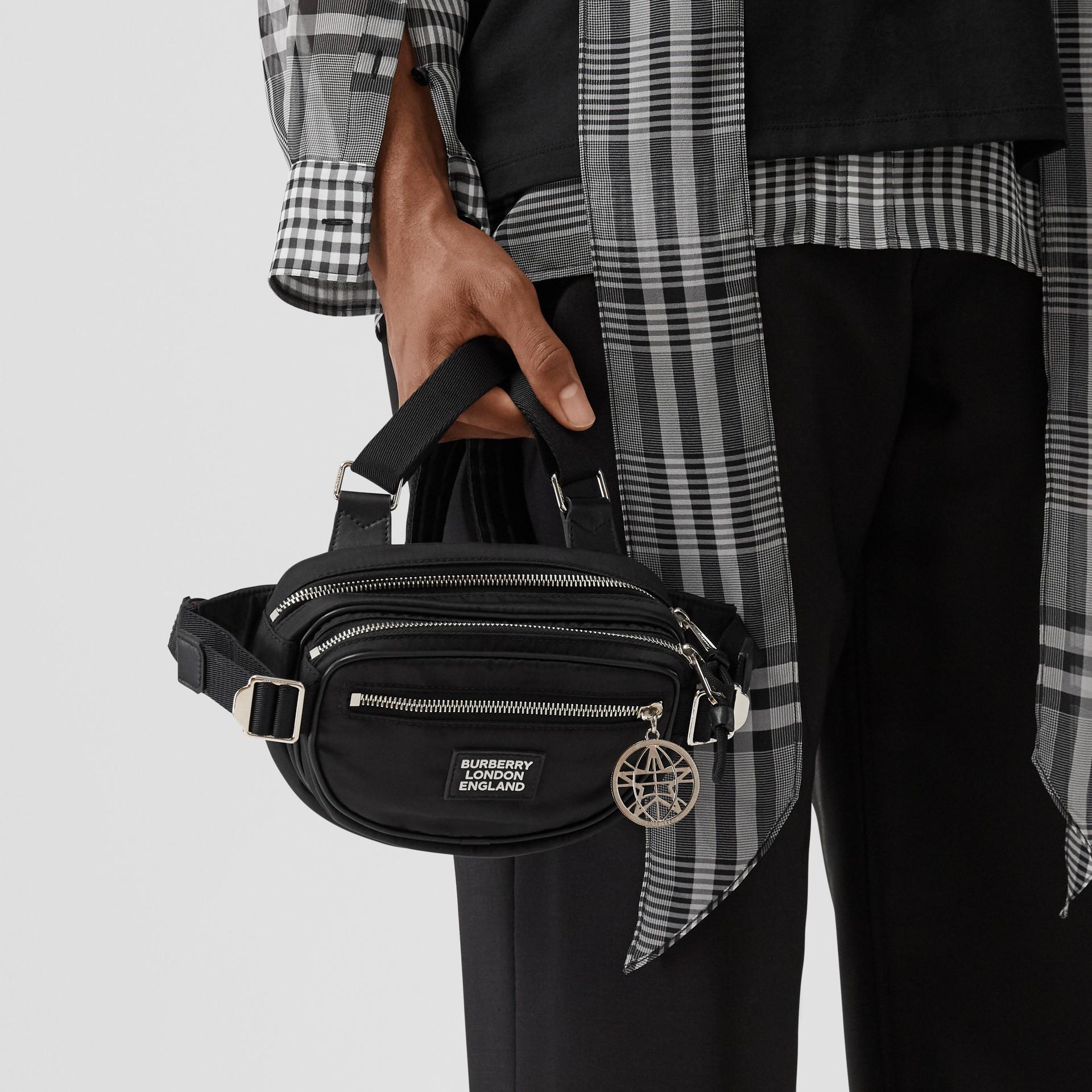 Logo Appliqué ECONYL® Cannon Belt Pack in Black | Burberry - gallery image 10