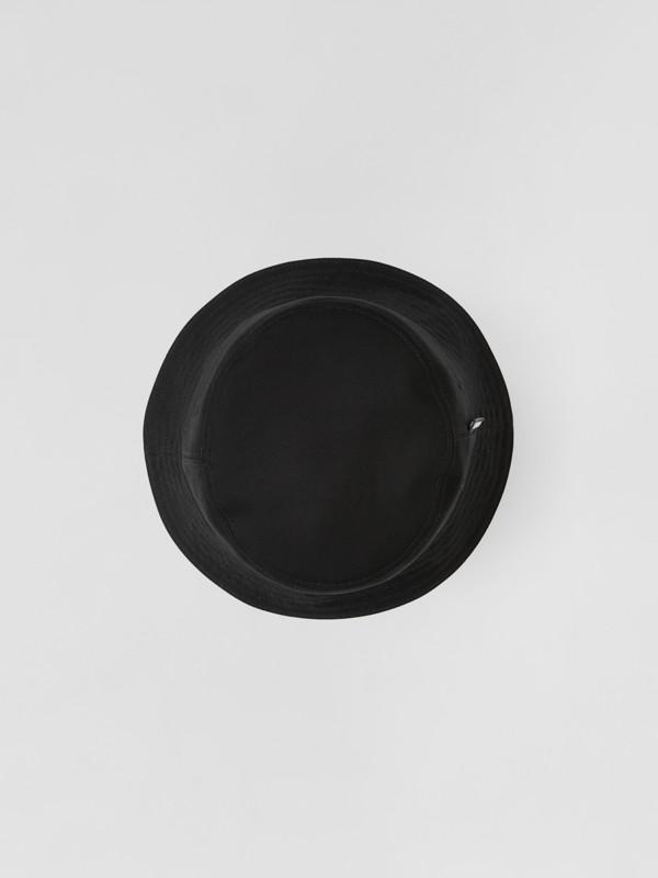 Chapéu Bucket dupla face de algodão com listras icônicas (Bege Clássico) | Burberry - cell image 3