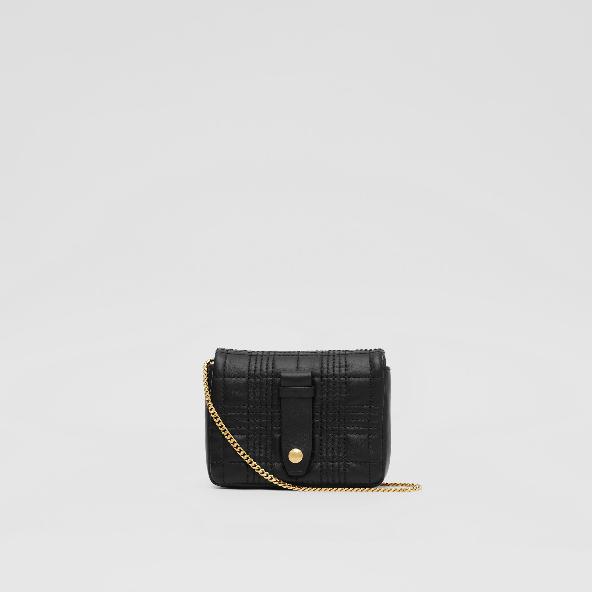 Micro Quilted Lambskin Lola Bag in Black - Women | Burberry - gallery image 5