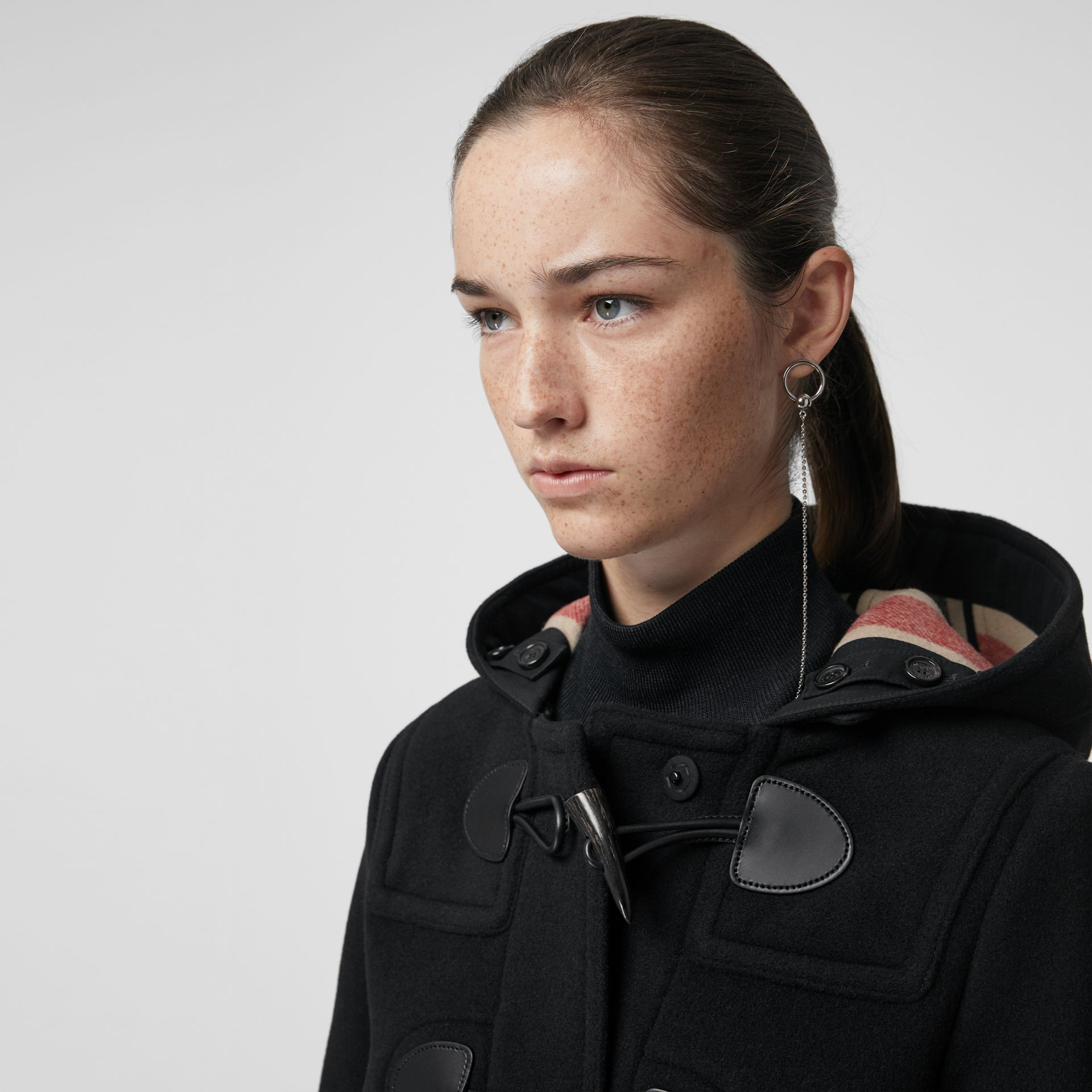 The Mersey Duffle Coat in Black - Women | Burberry - gallery image 1