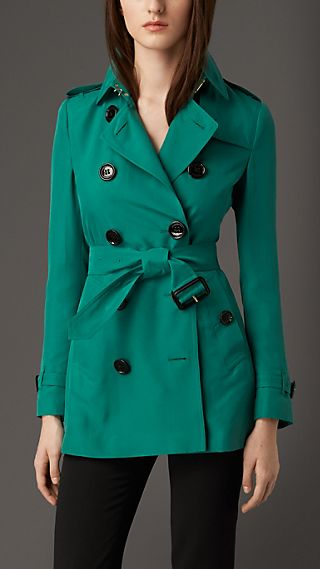Modern Fit Silk Trench Coat