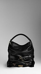 Medium Bridle Leather Hobo Bag