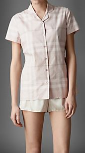Check Cotton Pyjama Shirt