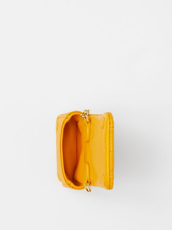Quilted Lambskin AirPods Pro Case in Citrus Orange - Women | Burberry - cell image 3