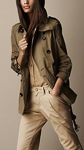 Short Technical Trench Coat