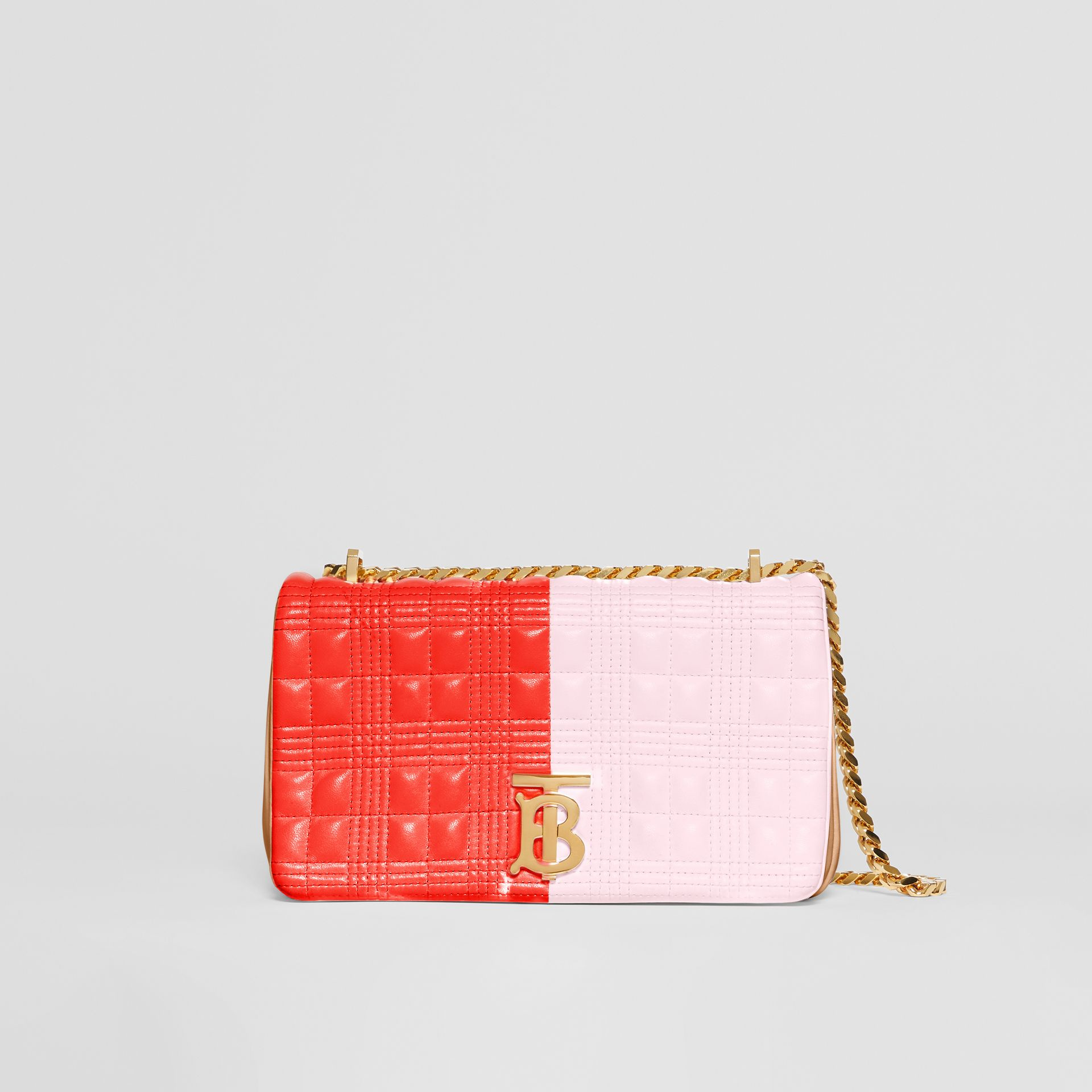 Small Quilted Tri-tone Lambskin Lola Bag in Red/pink/camel - Women | Burberry - gallery image 0