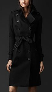 Trench coat en doble algodón