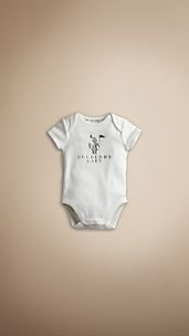 Baby Knight Cotton Bodysuit