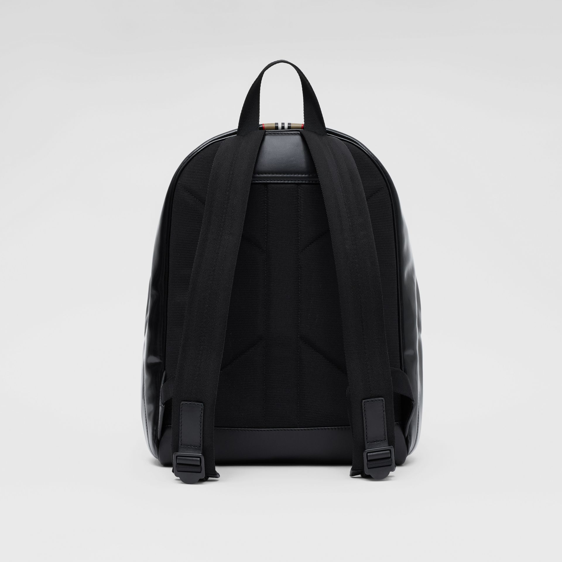 Logo and Icon Stripe Print Backpack in Black - Men | Burberry United Kingdom - gallery image 5