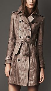 Long Python Trench Coat