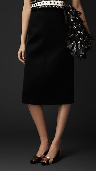 Cashmere Blend Pencil Skirt