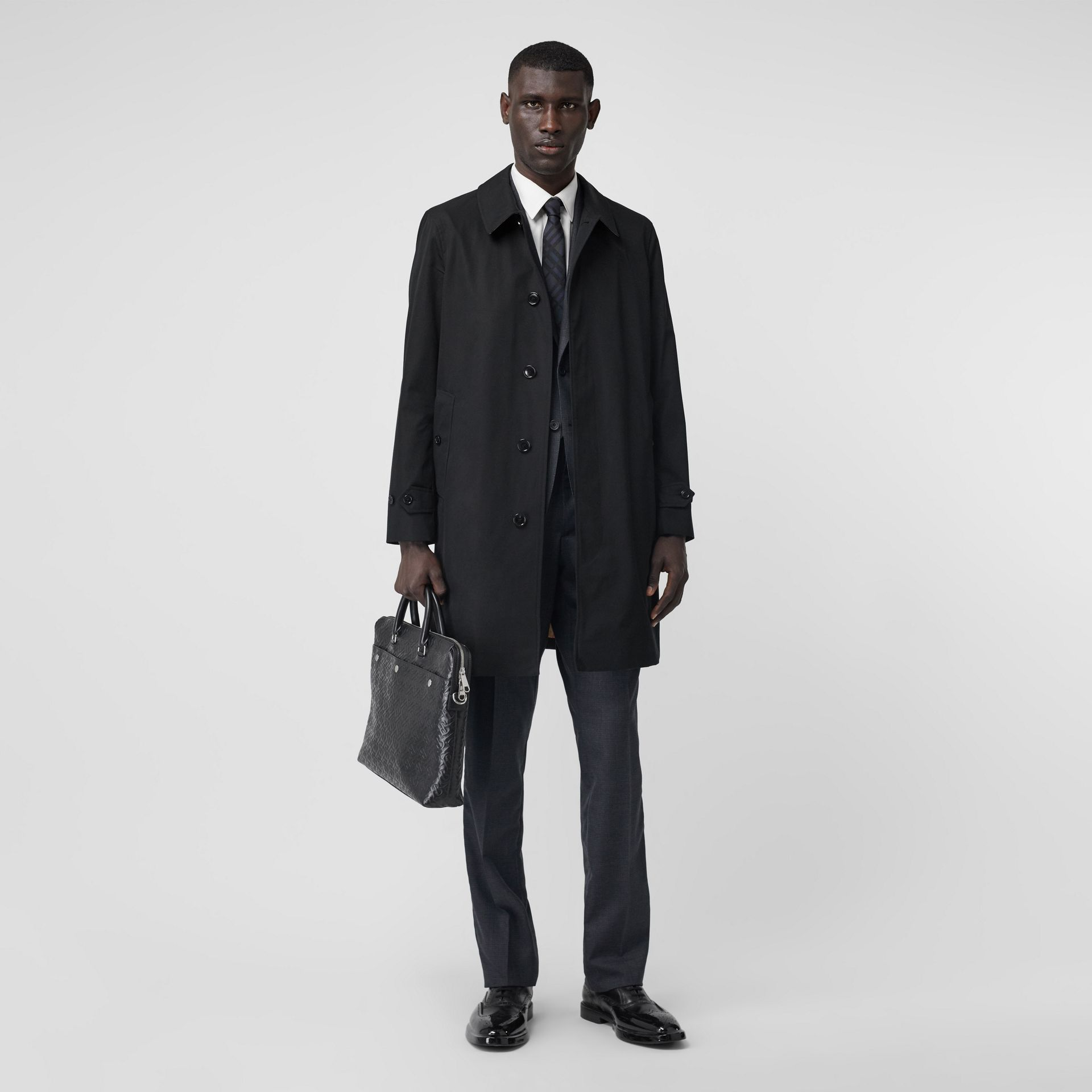 The Pimlico Heritage Car Coat in Black - Men | Burberry - gallery image 2