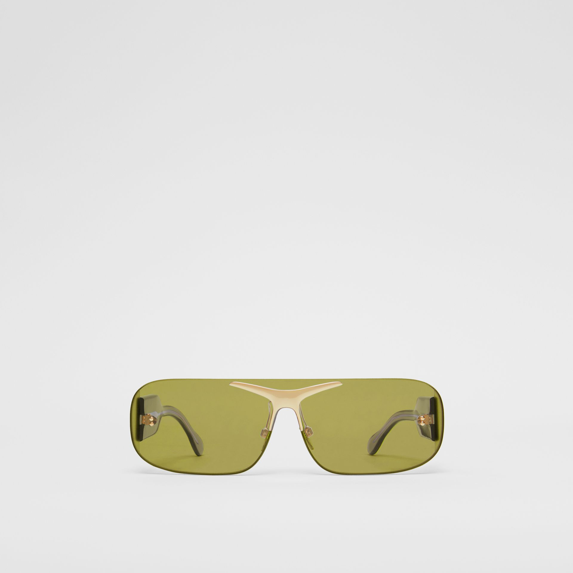 Blake Shield Sunglasses in Green | Burberry - gallery image 0