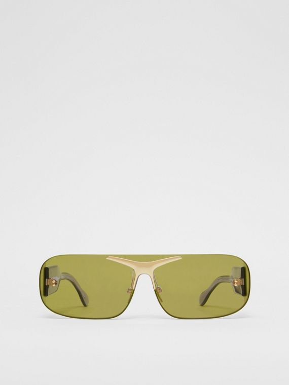 Blake Shield Sunglasses in Green